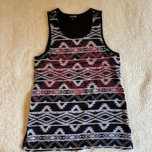Express embellished tank. Size Small.